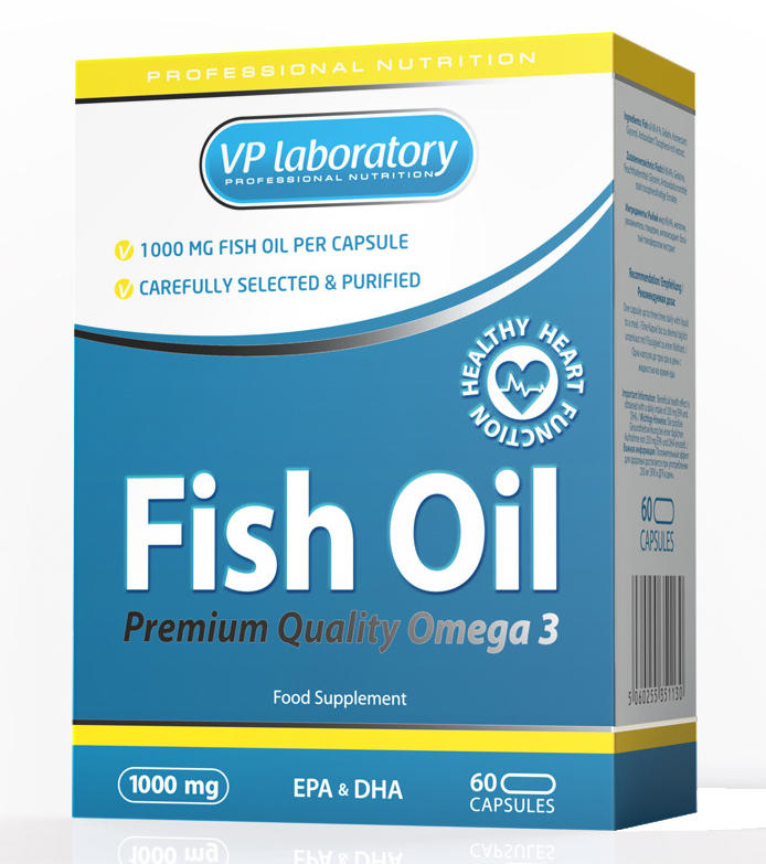 VP Laboratory Fish Oil 1000мг /60 капс./